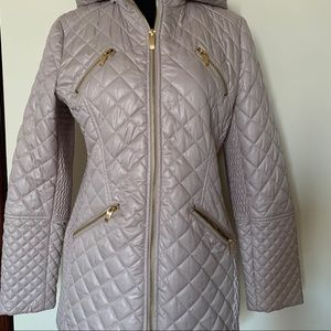 Via Spiga hooded water resistant quilted jacket